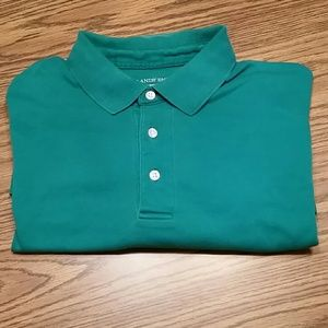 Lands end traditional fit polo, sea green, L